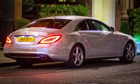 Mercedes in one million Swarovski crystal