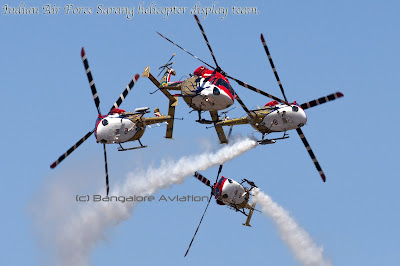 Indian Air Force Sarang Helicopter team cross