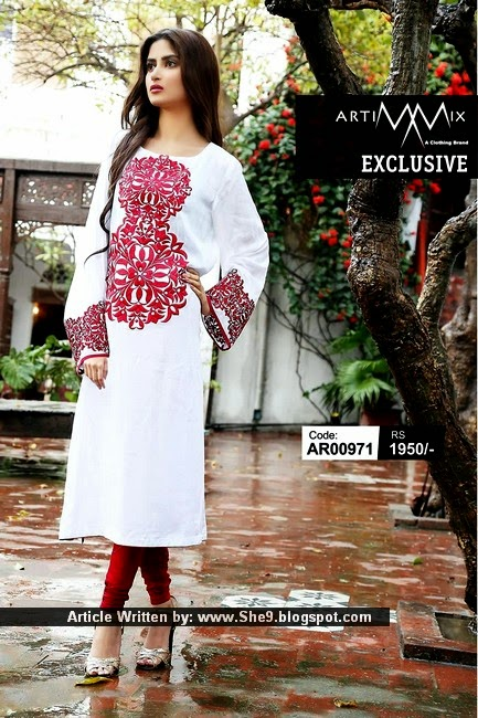 Party Wear Lawn Long Shirts