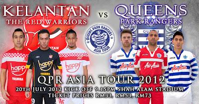 Keputusan Kelantan vs Queens Park Rangers (QPR) 20 Julai 2012