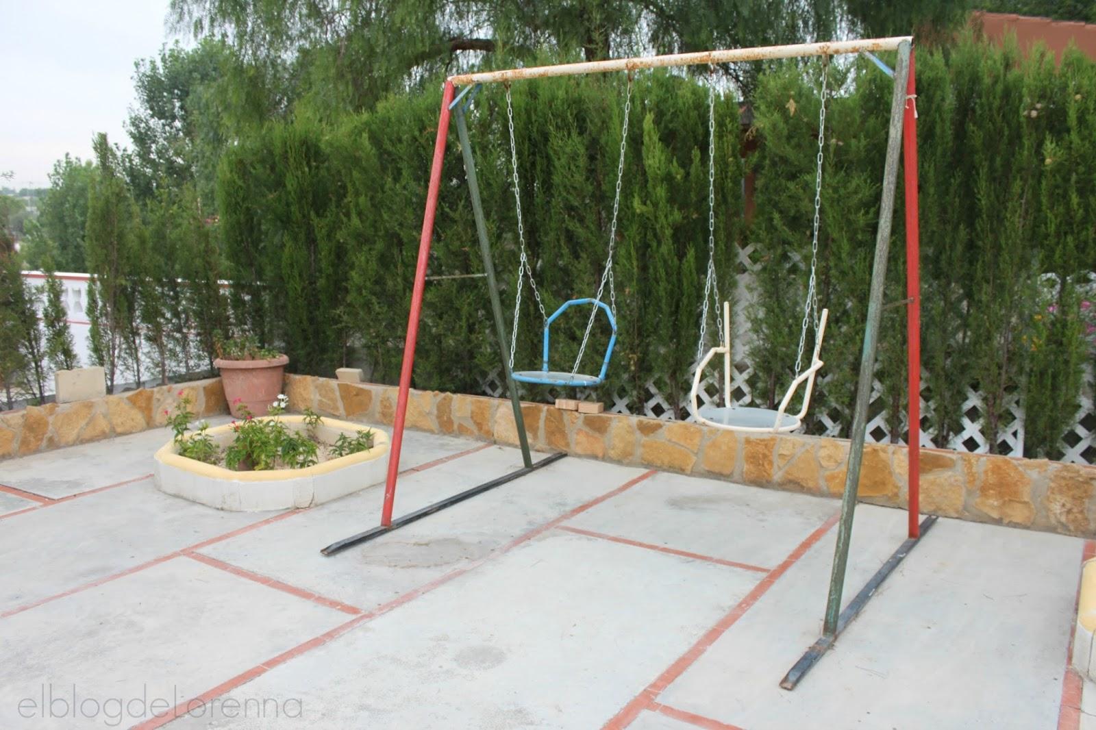 El blog de Lorenna: Columpio casero en el jardín
