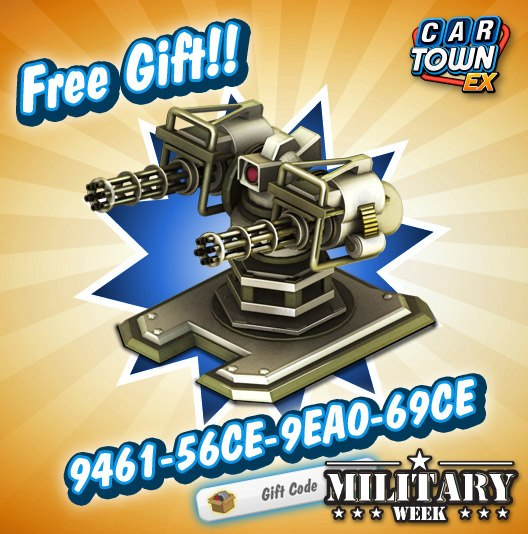 Car Town: Car Town EX Free Gift Gun Torret