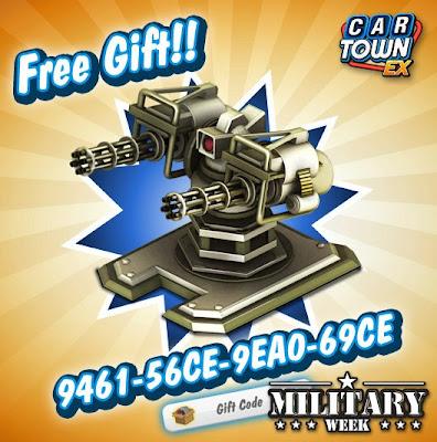 Car Town EX Free Gift Gun Torret