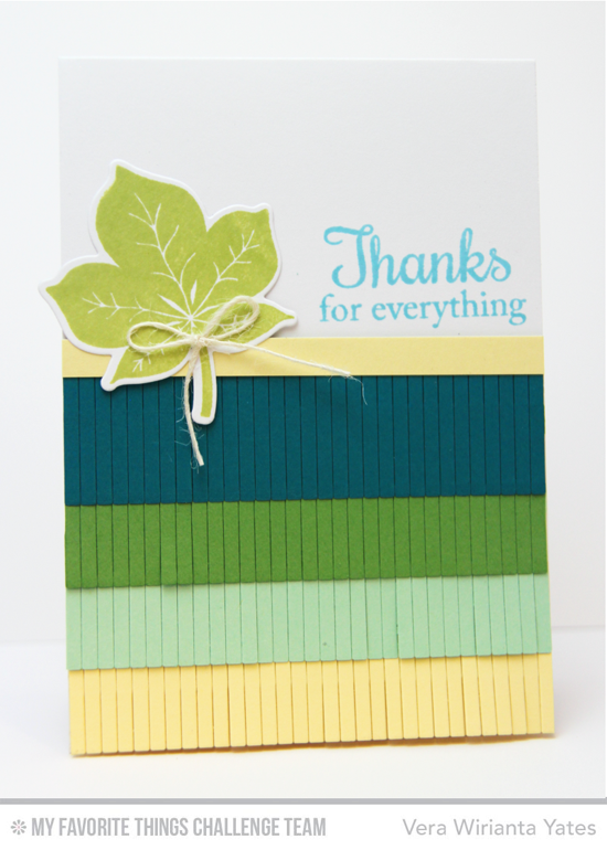 Thanks for Everything Card by Vera Wirianta Yates featuing the Fall Foliage stamp set and DIe-namics and Fringe Die-namics #mftstamps