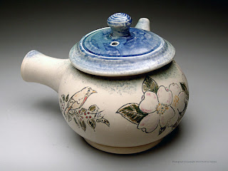 Side Handled teapot by Lori Buff