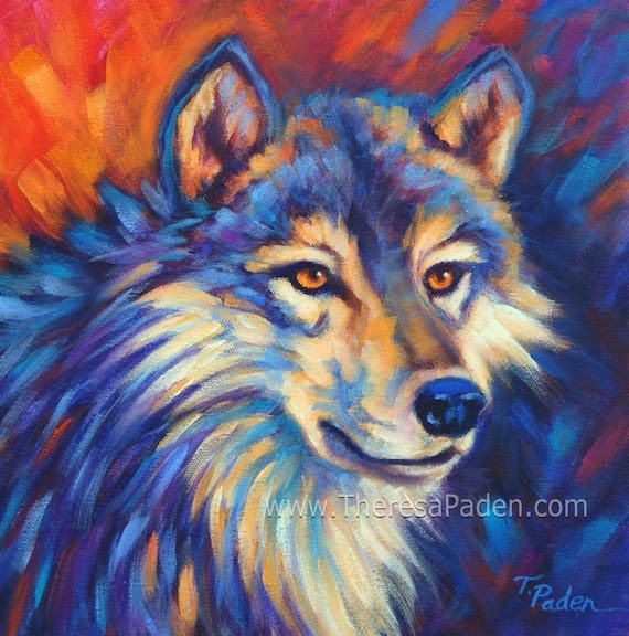 Colorful Wolf Paintings Colorful Abstract Wolf