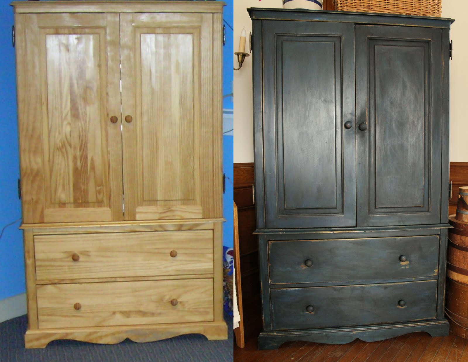 Antiquing wood with paint - Antiquing Furniture Like The Pros