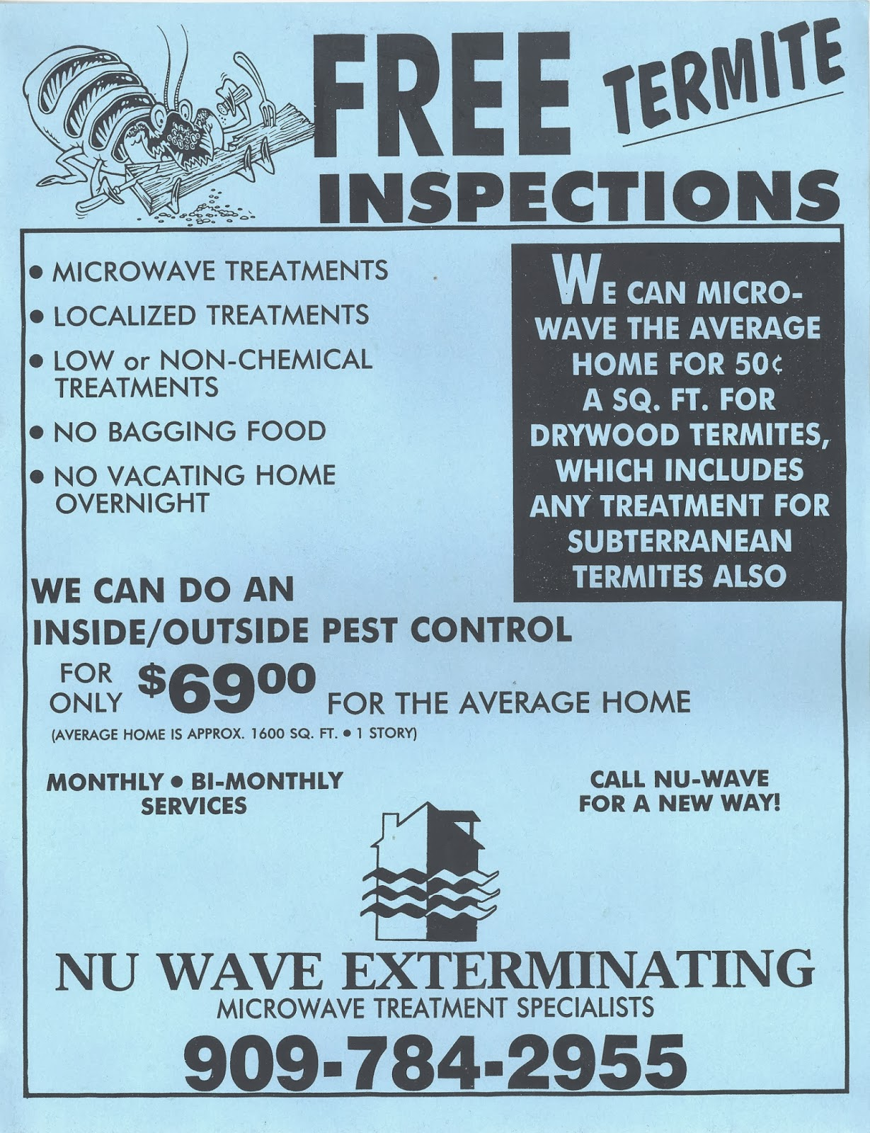 microwave termite treat talk microwave termite treatment microwave termite treatment advertising flyers