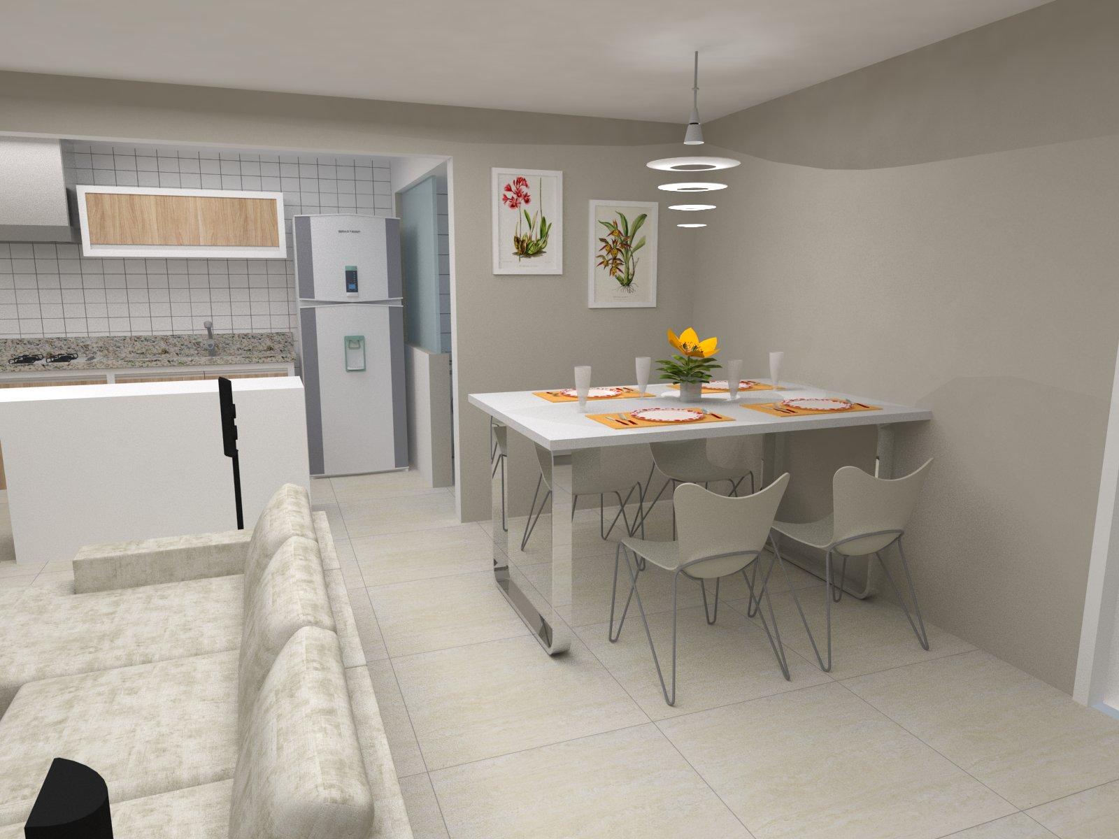 Cristine Berger Design de Interiores: Cozinha e Sala integradas #C79304 1600 1200