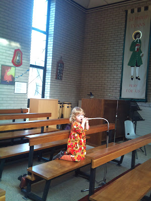 Toddler fun in Church