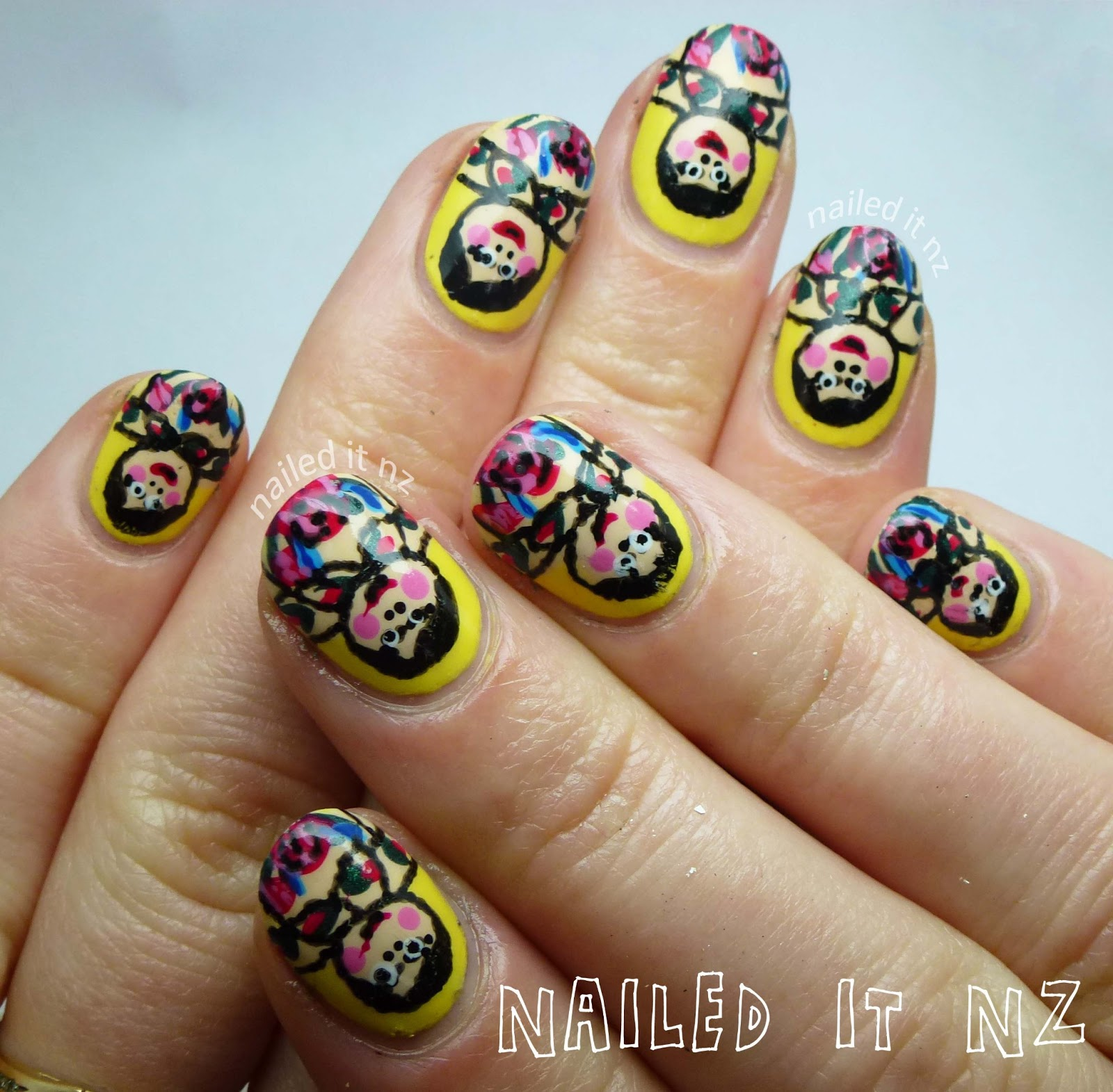 Russian Dolls Nail Art