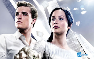 Katniss Everdeen and Peeta Mellark Catching Fire HD Wallpaper