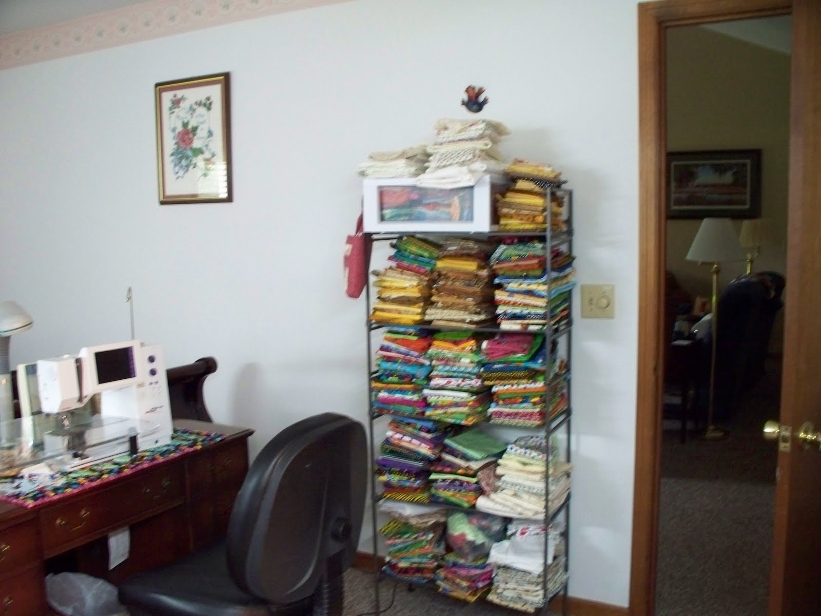 Frog quilter quilt room re organization for Room organization