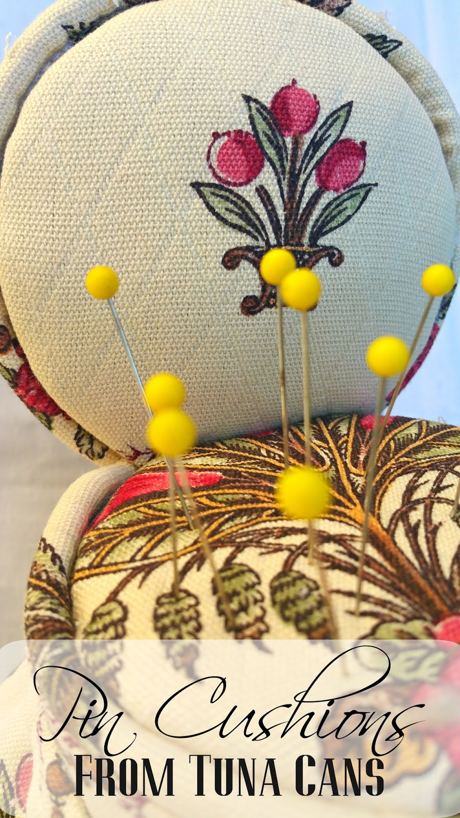 Pin Cushions from Tuna Cans | Redo It Yourself