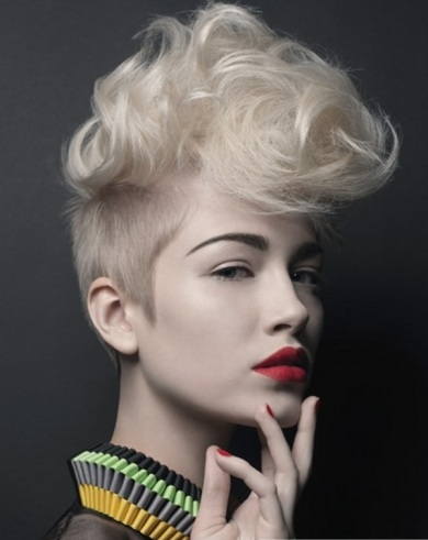 Chic Short Mohawk Haircut 2014