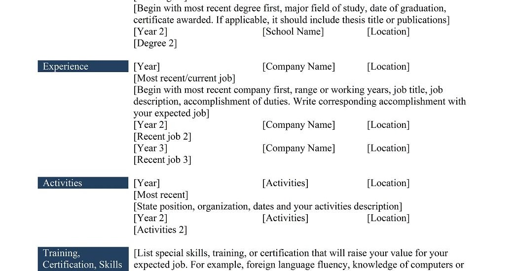 Resume phrases examples