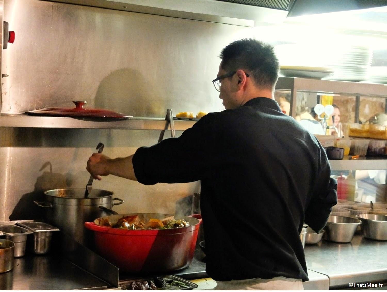 plat cocotte Pierre Sang in Oberkampf Chef japonais, resto à Paris Pierre Sang Boyer