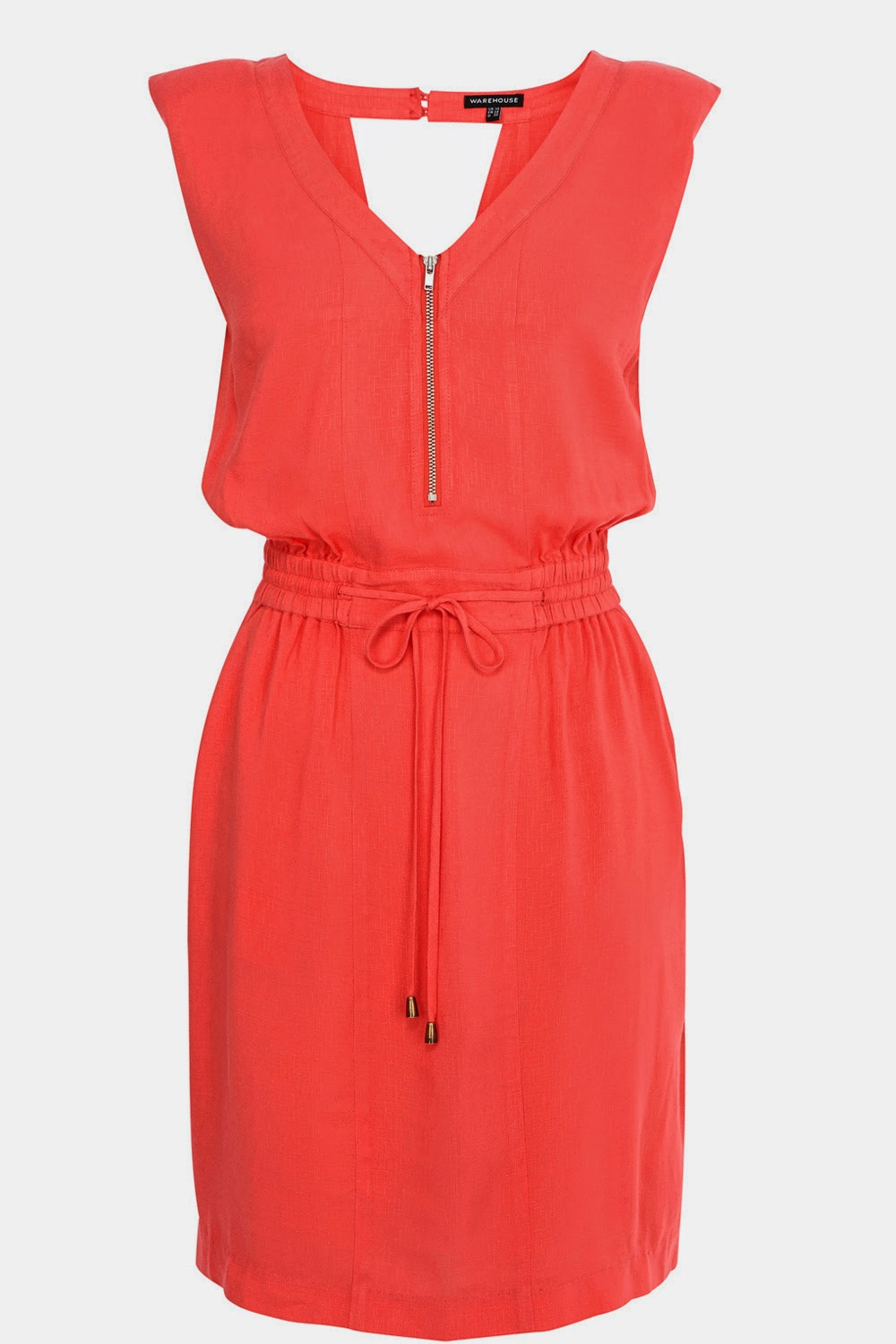 warehouse coral dress