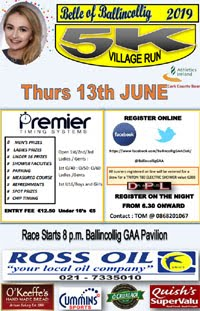 5k in Ballincollig - Thurs 13th June 2019