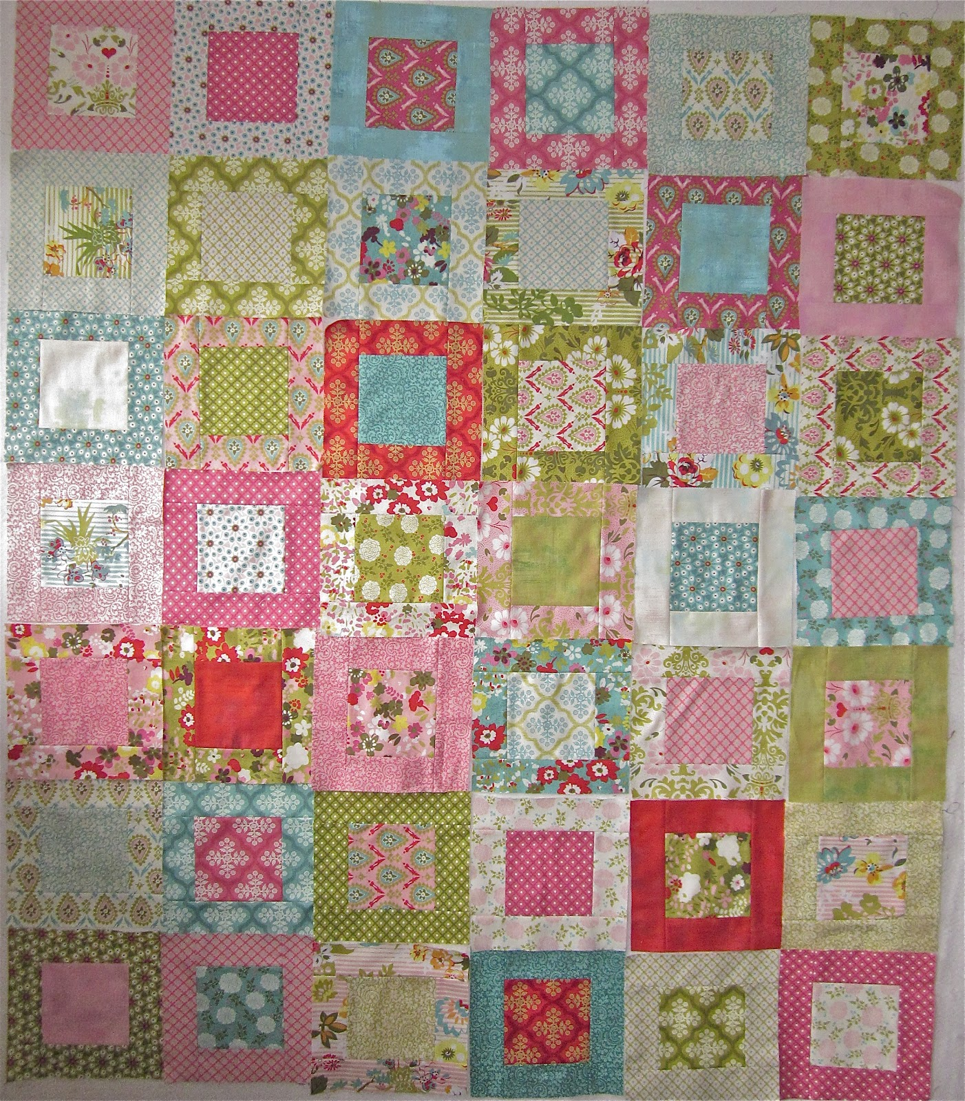 Layer Cake Quilt As You Go : Ann Ferguson Quilts: Hello Luscious Layer Cake Quilt Tutorial