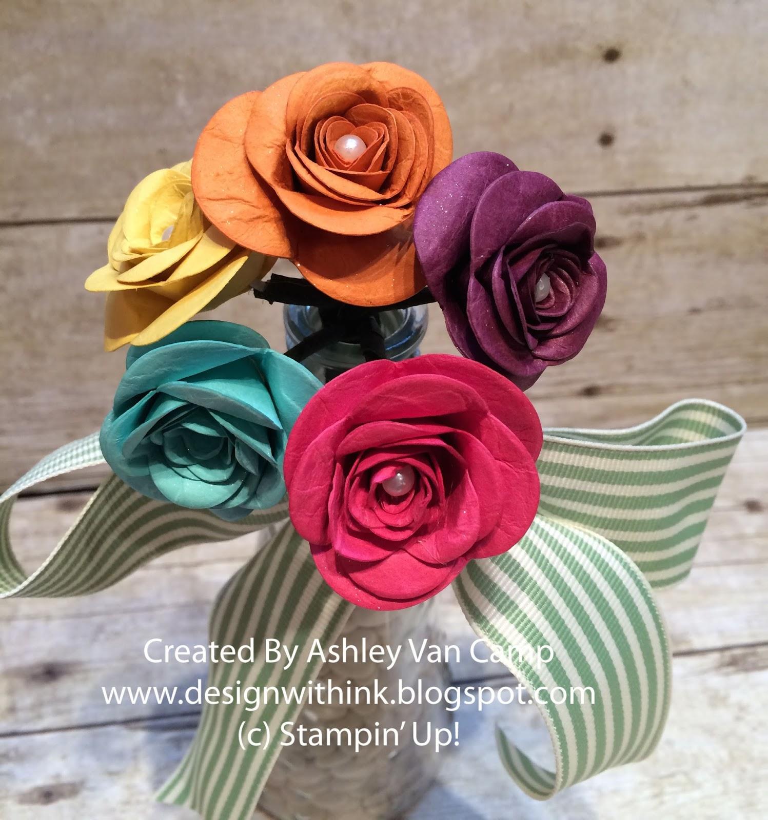 Design With Ink Spiral Birthday Flowers