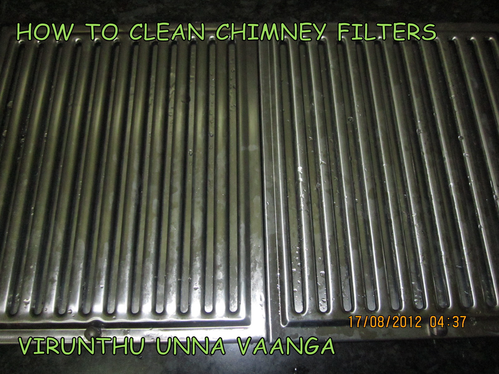 VIRUNTHU UNNA VAANGA: CLEAN BAFFLE FILTERS OF ELECTRIC CHIMNEY