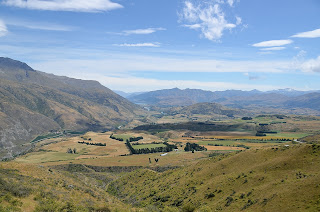 View from the road over the Crown Range between Queenstown and Wanaka.