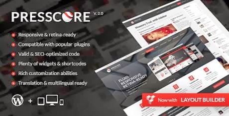 PressCore v2.0: responsive multipurpose WordPress theme