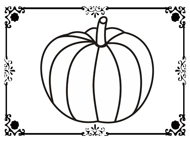 blank pumpkin coloring pages to print