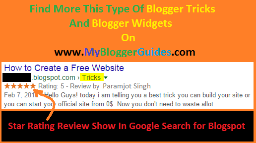 Show Star Rating Review in Google Search Result
