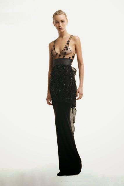 ziad ghanem black evening dress  fall winter 2014-15 collection (2)