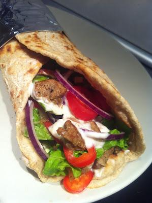 Durumrulle med shawarma