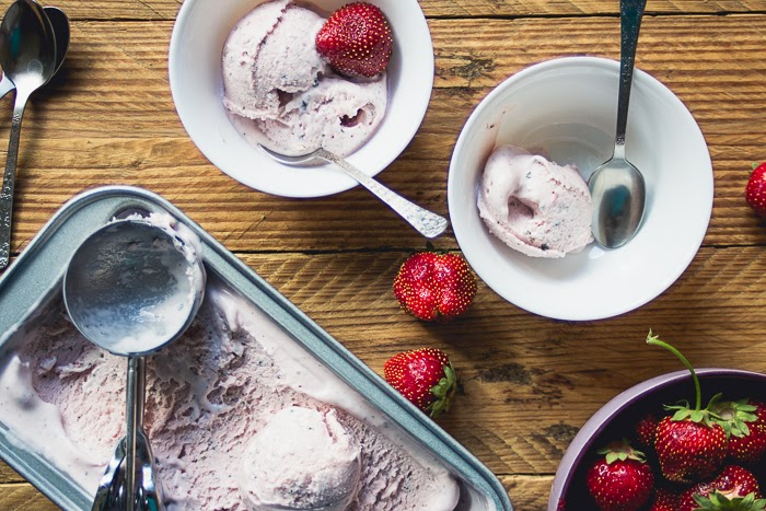 strawberry mint ice cream recipe