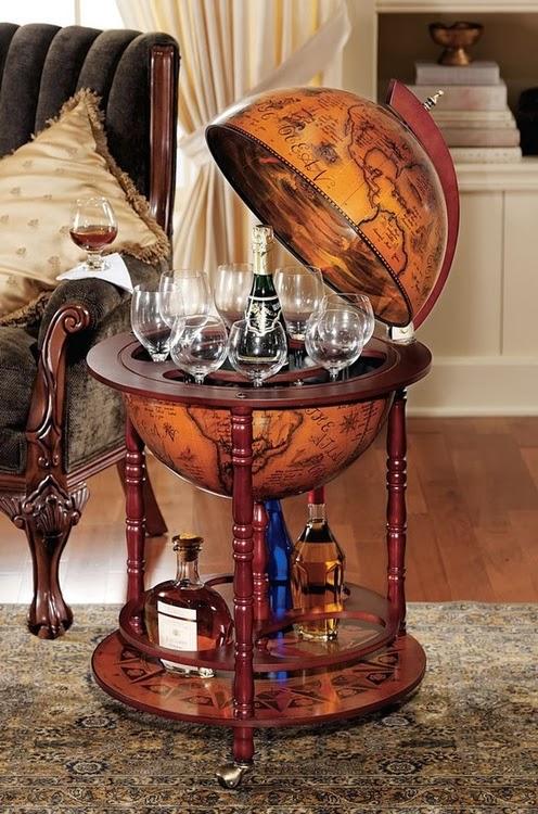 A 16th century Italian style floor globe bar