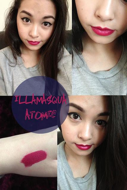 Illasmasqua Lipstick in shade Atomic review