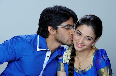 Naga chaitanya's sweet kiss to Tamanna