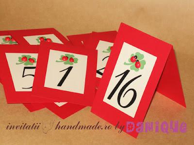 numere de masa pentru nunta handmade cu buburuze