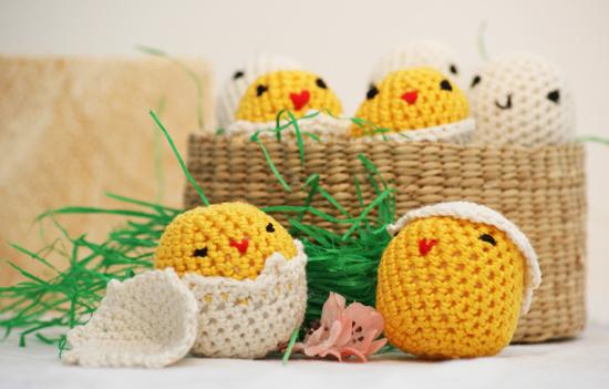 meermasche: kostenlose Häkelanleitung: Küken im Ei