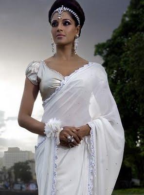 New Fashion Designs: White Saree Collection