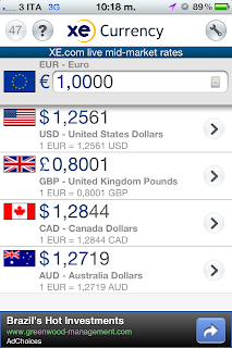 iphone travel apps - currency conversion