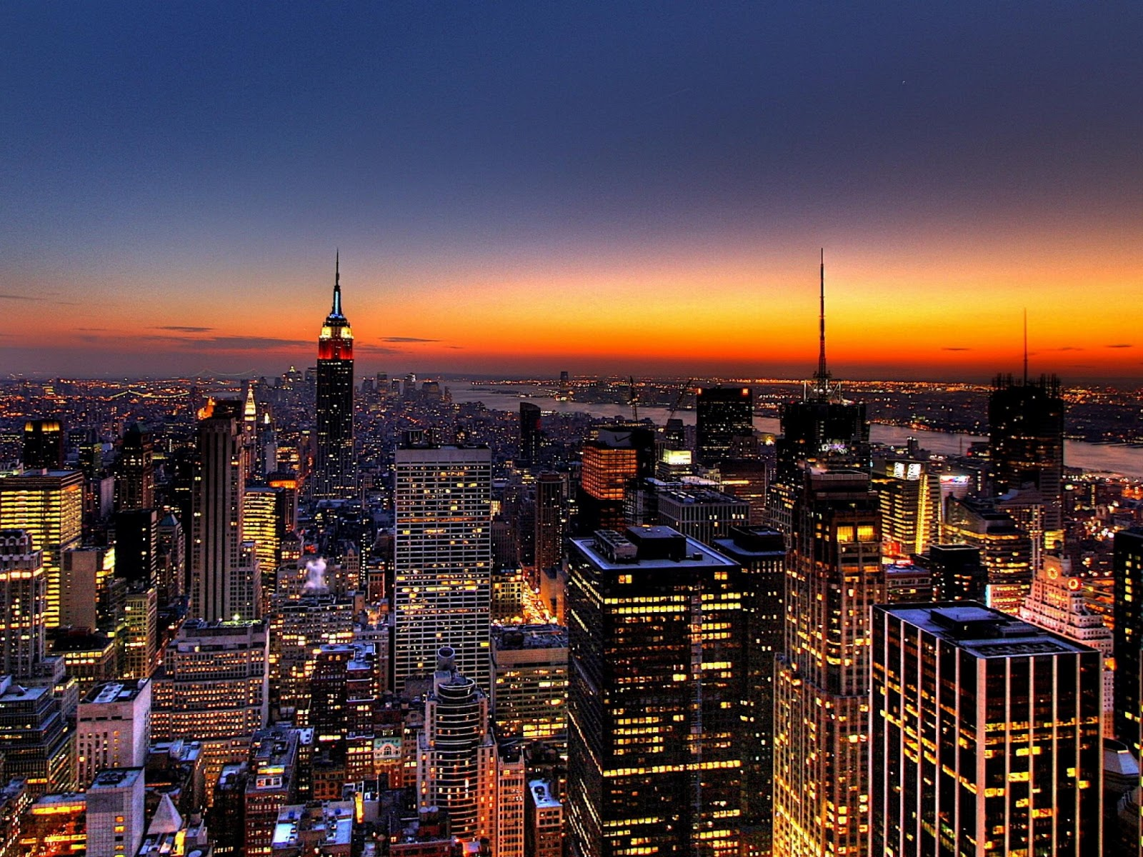 New York Skyline USA FunWondersTourismTravelling