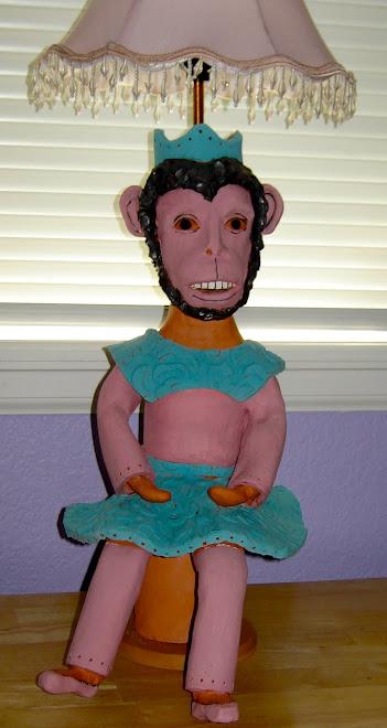 Monkey Ballerina Lamp
