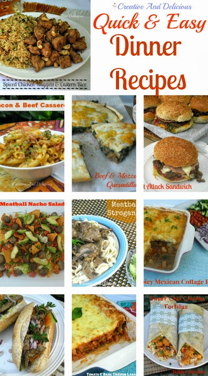easy meals and recipes