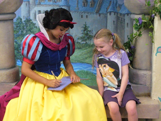 Disneyland princess meet greet Anaheim California