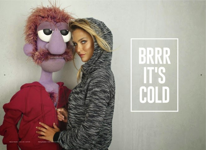 Bar Refaeli poses for the 2015 Hoodies Lookbook