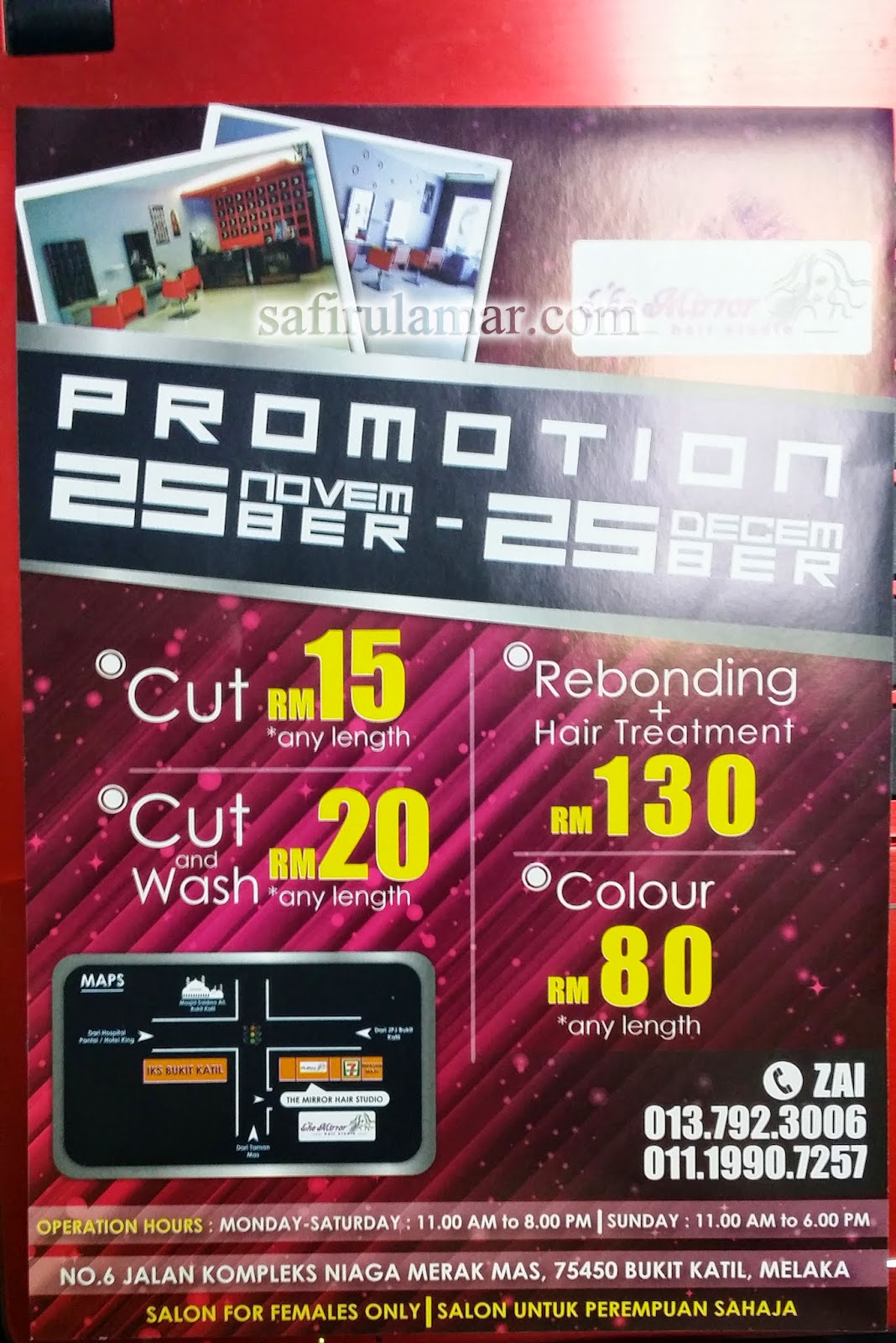 Salon rambut untuk orang perempuan