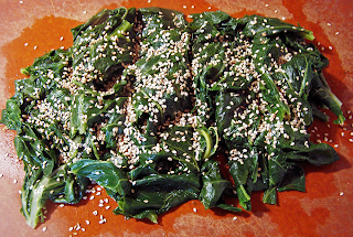 Collard Greens on Cutting Board