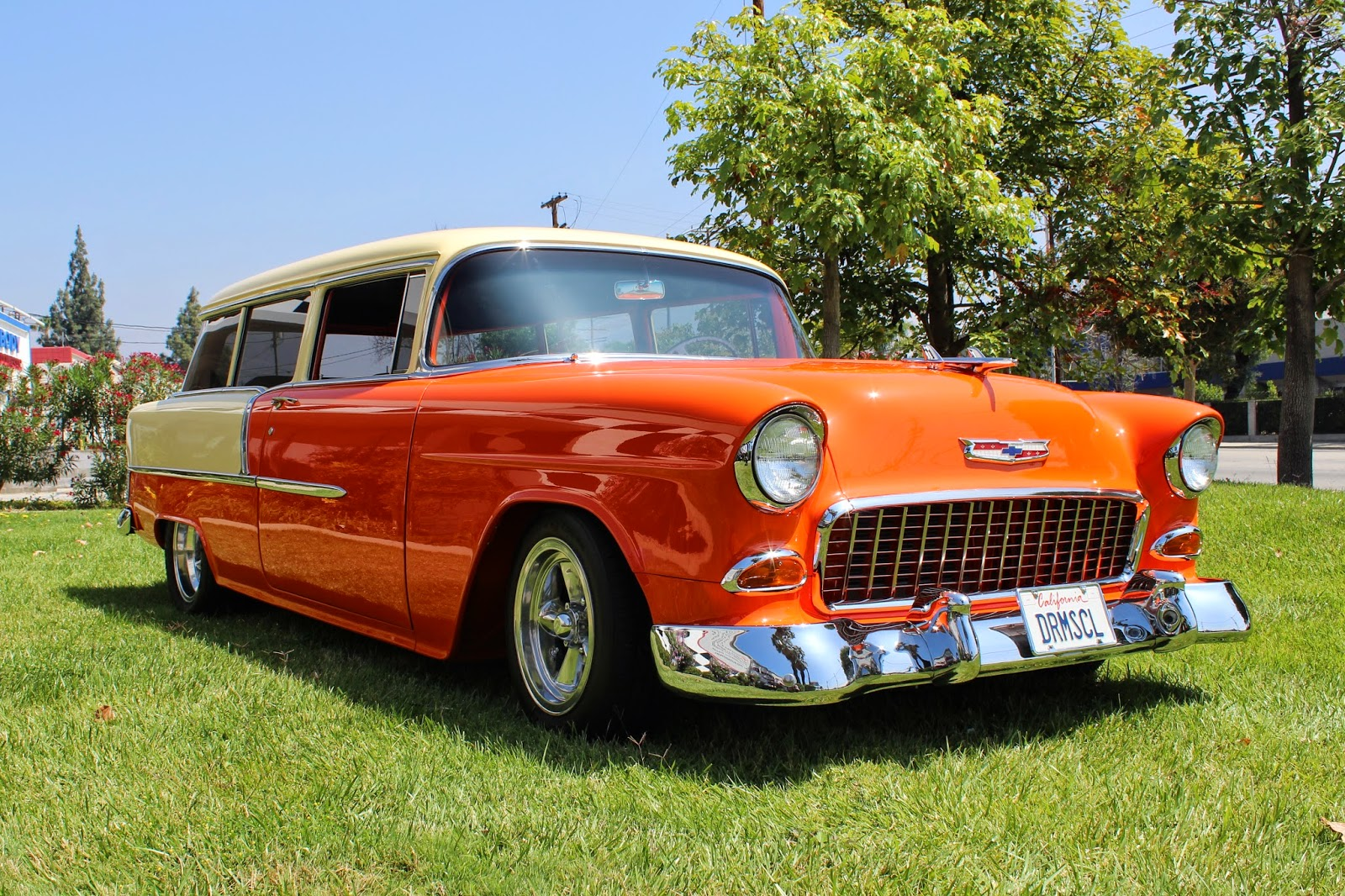 1955 chevrolet handyman 2 door wagon street rod - This Chevy Is Not A Standard Station Wagon But A 210 Handyman Wagon The Owner Phil Dolman Finished The Wagon With 1955 Chevy Passenger Car Trim And