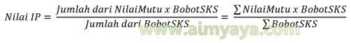Gambar: Rumus menghitung nilai IP (Indeks prestasi)
