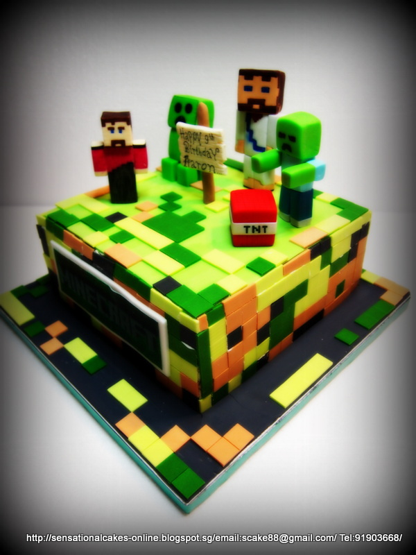 singapore 3d minecraft android ipad apple games cake singapore